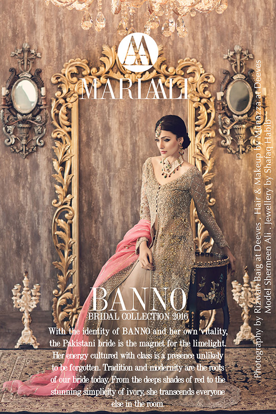 Ready, Set, Shoot: Maria Ali 'Banno' Bridal Campaign SS'16 + Shafaq Habib Bridal Jewels