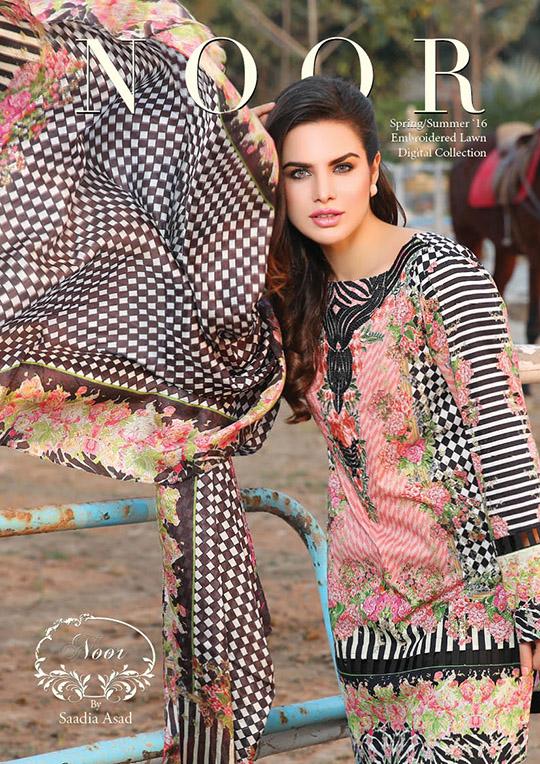 Ready, Set, Shoot: Noor by Saadia Asad S/S'16 Lawn Look Book