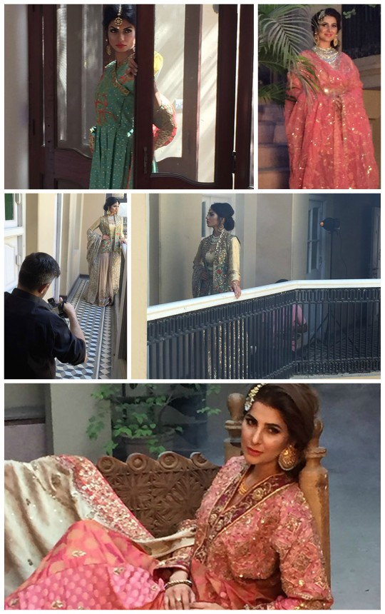 Behind the Scenes: At Sanam Chaudhri S/S'16 Bridal Campaign!