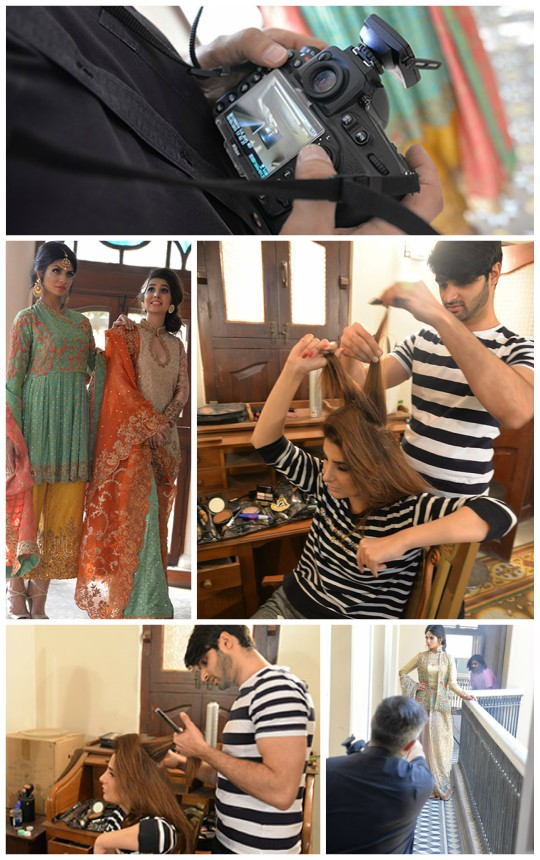 Behind the Scenes!: Sanam Chaudhri Spring Summer Bridal Collection 2016