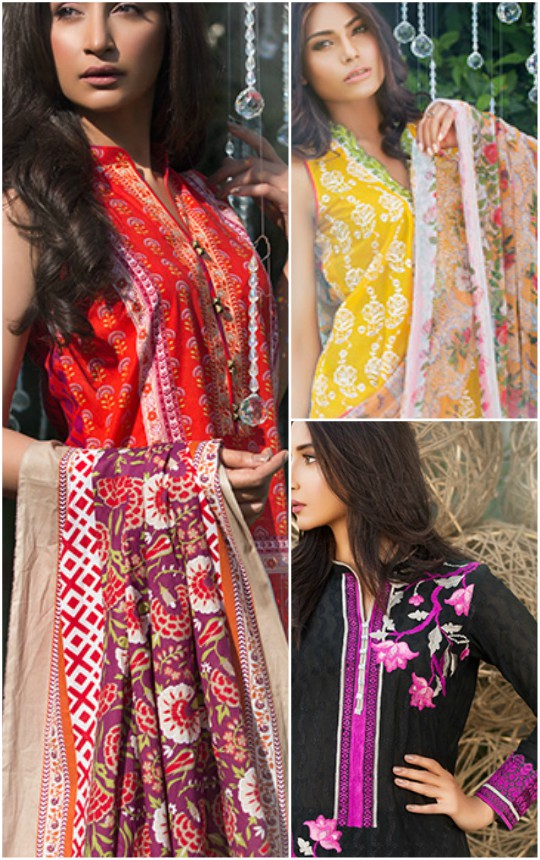 Whats in store?: Image unstitched embroidered S/S'16 lawn collection!