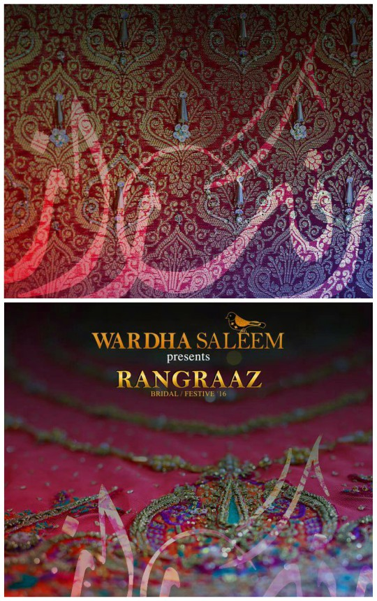 Behind The Scenes: An exclusive sneak peak at Wardha Saleem's latest bridal collection 'Rangraaz'!