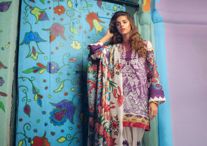 Step Into Spring With Saira Rizwan X Ittehad Luxury Lawn!