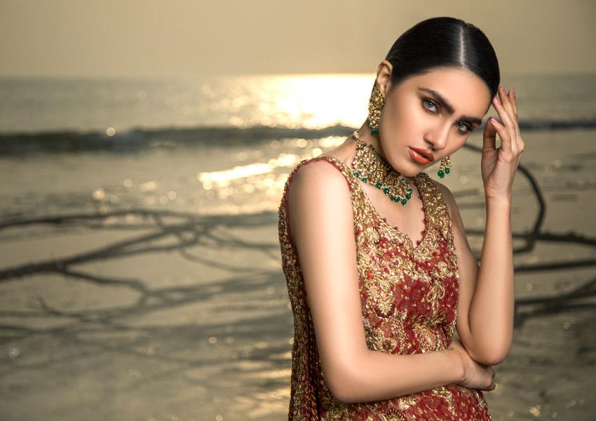 """Ready, Set, Shoot! All Eyes on Umsha By Uzma Babar's Latest Bridal Collection """"Muhabbat"""""""