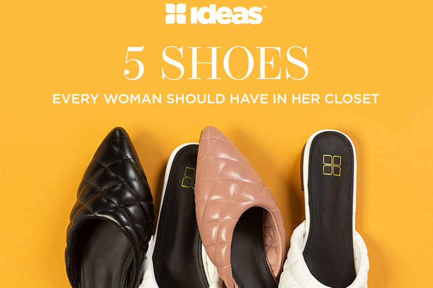 5 Shoes Every Woman Should Have In Her Closet