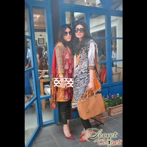 Minhal Malik and Shazah Ayub in Sana Safinaz lawn