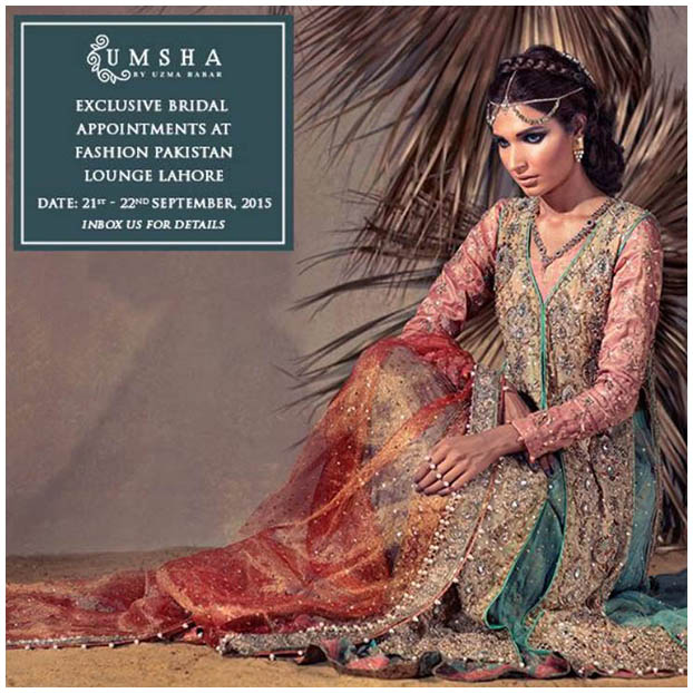 Umsha by Uzma Babar 'Floral Goddess' Bridal Trunk Show at FPL Lahore