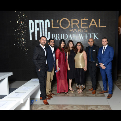 Musharaf Hai and Farooq Ahmed with Team L'Oreal Pakistan