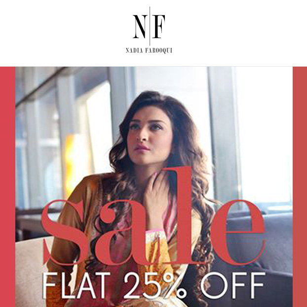 Nadia Farooqui Launches Online Estore with a 25% Sale!