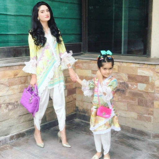 Momina Shahrukh looking uber chic in a  Farah Talib Aziz silk luxe pret while celebrating Eid in Lahore