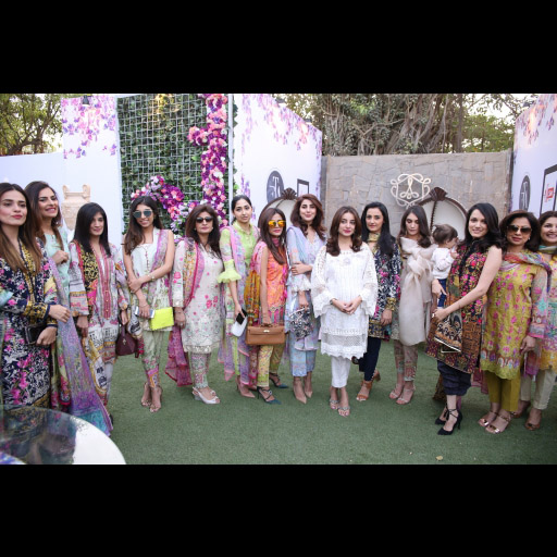 Ladies at the Farah Talib Aziz Season of Joy collection launch