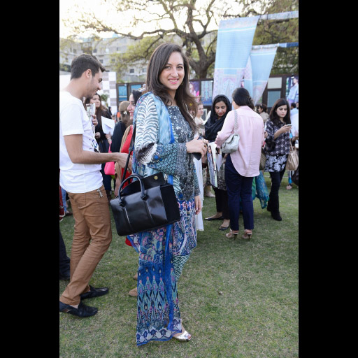 Alizah Raza wearing Elan Lawn