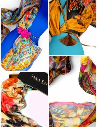 WEEKEND OBSESSION: SANA SAFINAZ SCARVES!