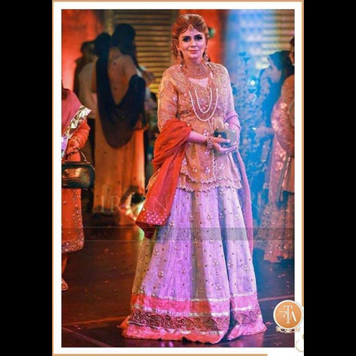 Beautifully regal in an FTA lehnga choli.
