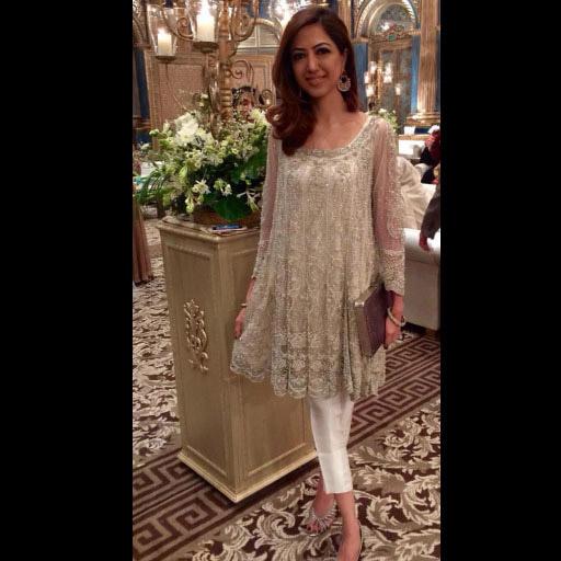 Sehr Anis on point for wedding season in a dreamy Farida Hasan formal