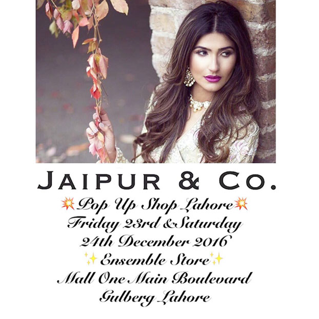 Jaipur and Co Jewelery pop up at Ensemble Lahore on the 23rd and 24th of December!