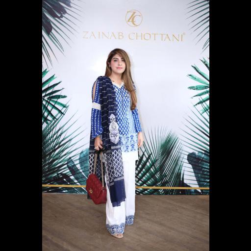 Myda Malik wearing Zainab Chottani ChikanKari Eid Festive Collection 2018