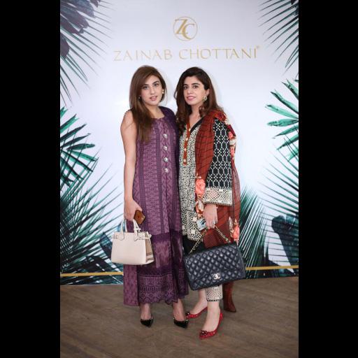 Nimra Khokhar and Mehak Elahi wearing Zainab Chottani ChikanKari Eid Festive Collection 2018