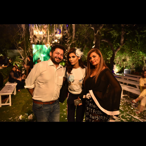 Faisal Kapadia and Amna Babar with Frieha Altaf
