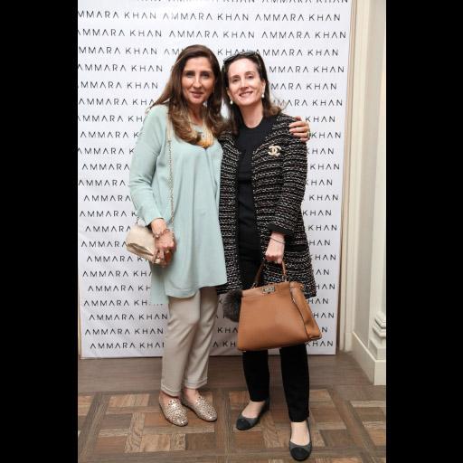 Alina Shah and Mili Saigol