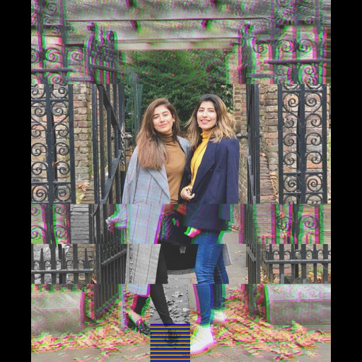 Sister act- Saira Shahroz and Palwasha Yousuf pose for a touristy picture while in London.