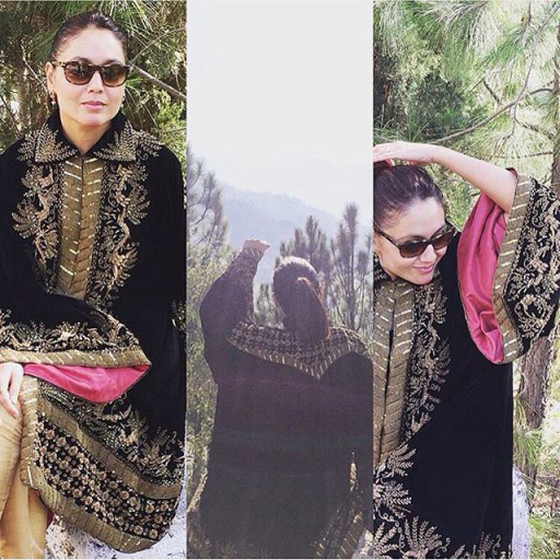 Tanya Mirza Ashraf lovely in a Sanam Chaudri formal at a wedding in Swat