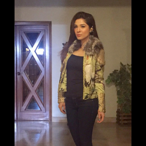 Ayesha Omar on point in a statement Shehla Jacket