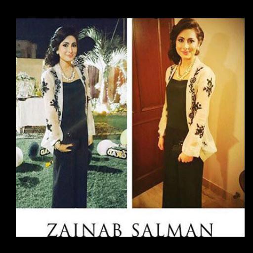 Umaima Motiwala evening ready in a chic embroidered Zainab Salman Jacket