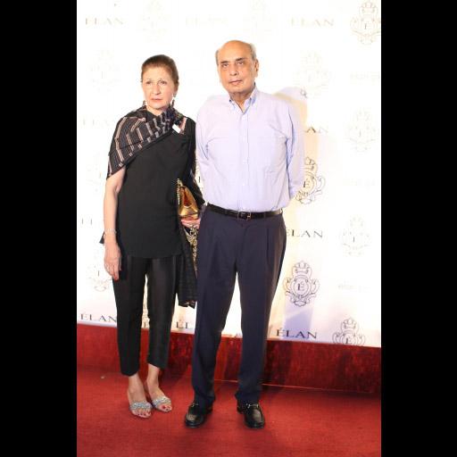 Naz Mansha and Mian Mansha