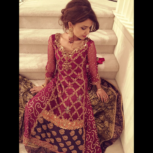 Ayesha Rafiq in a Tena Durrani wedding formal