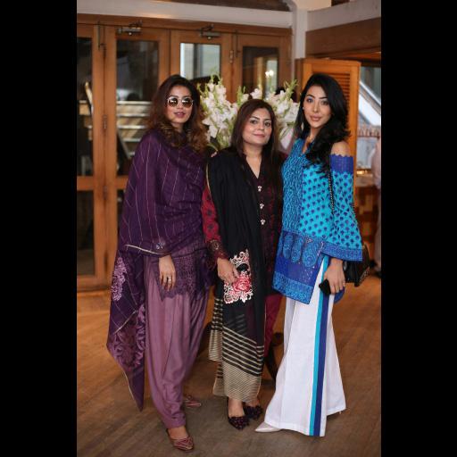 Rabia Butt, Zainab Chottani and Aneesa Sharif wearing Zainab Chottani ChikanKari Eid Festive Collection 2018