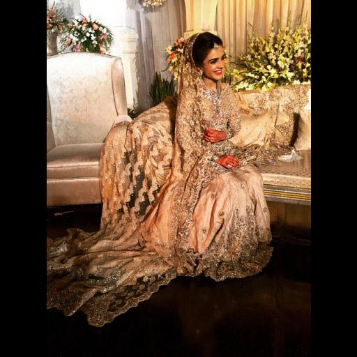 Shanzay in a champagne nude Bridal