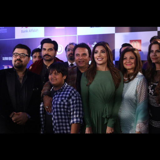 Ahmed Ali Butt, Humayun Saeed, Mehwish Hayat with Mr and Mrs Behroz Sabzwari