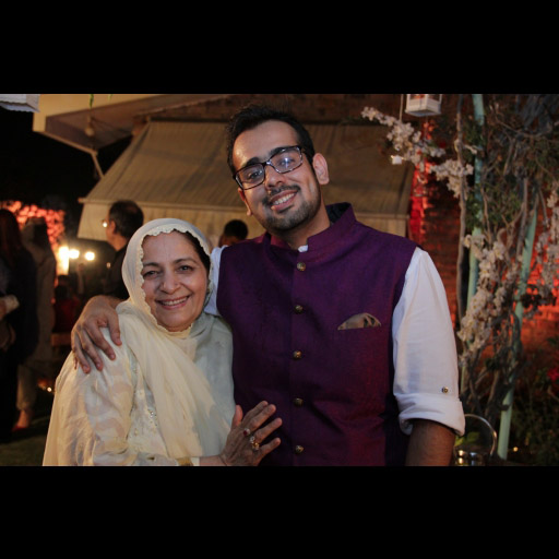 Abdullah Seja with his mother