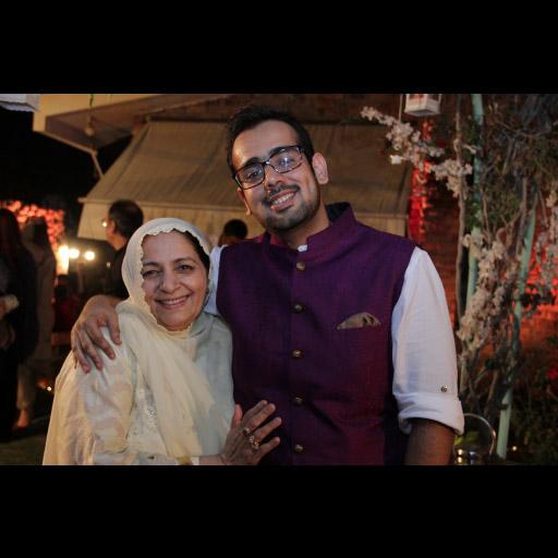 Abdullah Seja with his mother
