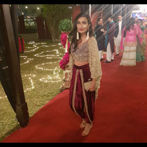 Nina Kashif in Shehla Chatoor wedding wear