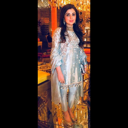 Amna in a bespoke Ala luxury formal