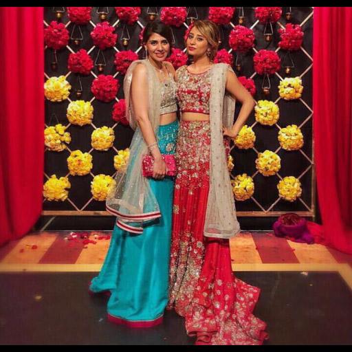 Fatin Aly Khan and Yasmin Vafa in festive Nazli Akbar lehnga choli's