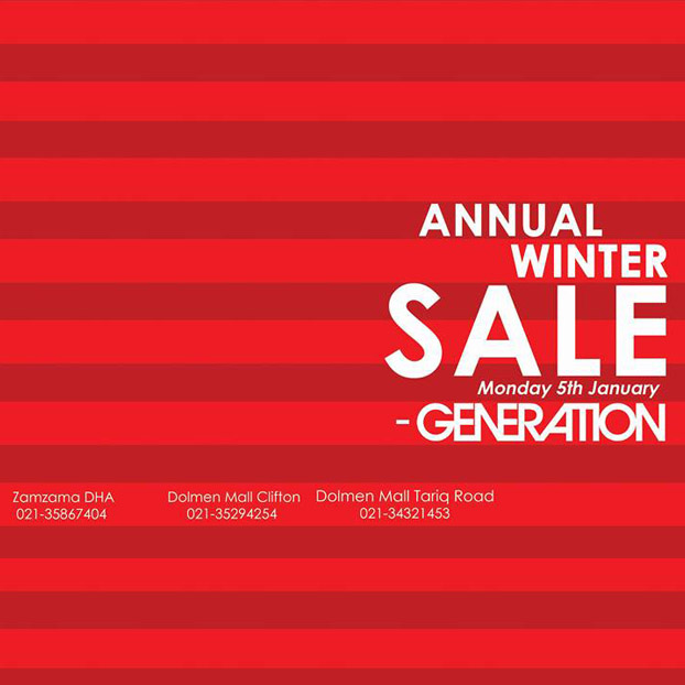 Generation Annual Winter Sale Starts 5th January!