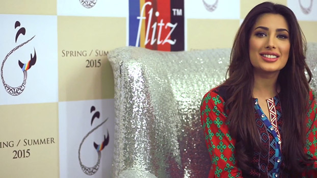 Mehwish Hayat and SHEEN for Flitz Textiles