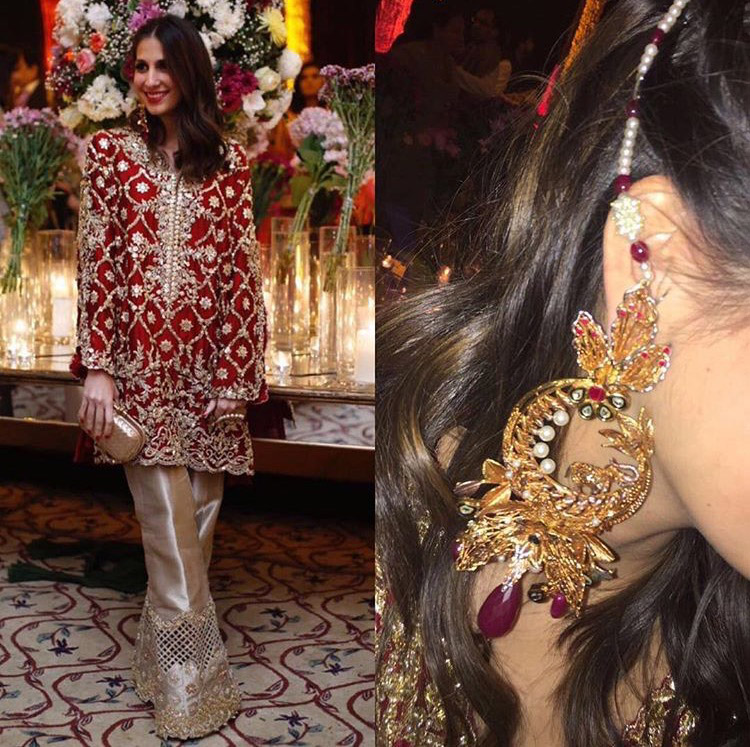 Shehrbano Taseer in Rema Shehrbano and Remaluxe earrings