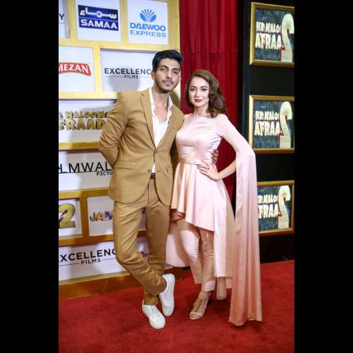 Mohsin Abbbas Haider with Hania Amir