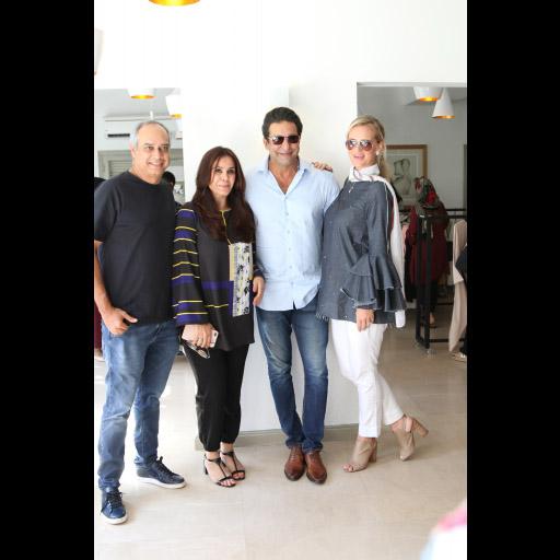 CEO Azfar Hasan, Yasmeen, Wasim Akram and Shaniera Akram