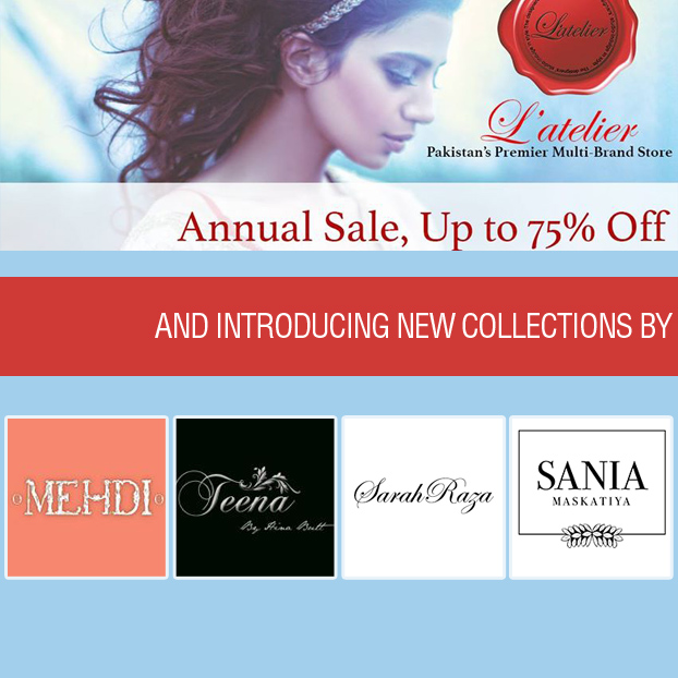 L'atelier Annual Sale upto 75% Off & New Designer Collections in Store!