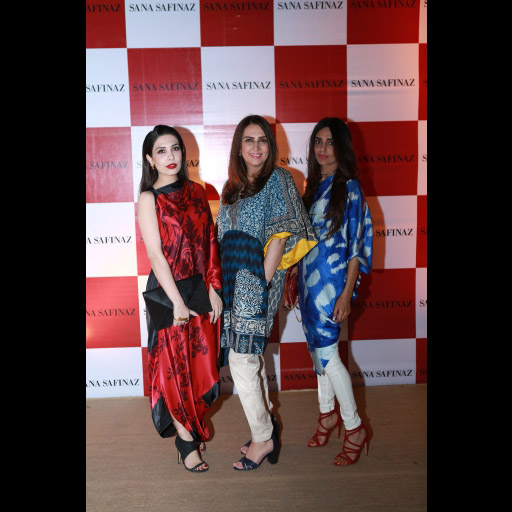 Maheen Taseer, Aamna Taseer, and Rema Qureshi in Sana Safinaz