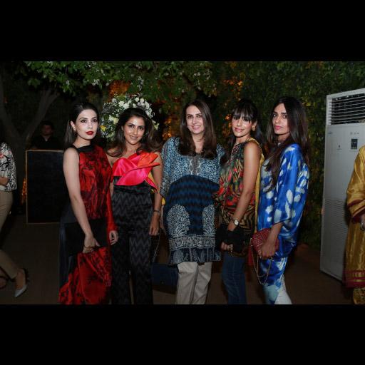 Maheen Taseer, Sadaf Jalil, Aamna Taseer, Maha Ahmed, and Rema Qureshi in Sana Safinaz