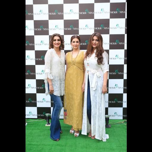 Nickie, Nina and Mariam Saif.