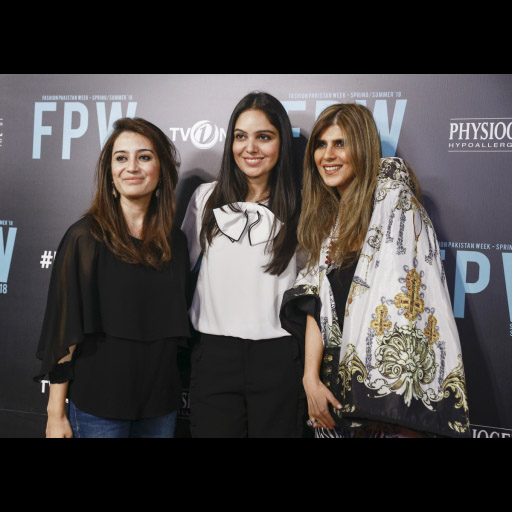 Saira Faisal and Shakira Usman with Ayesha Farook