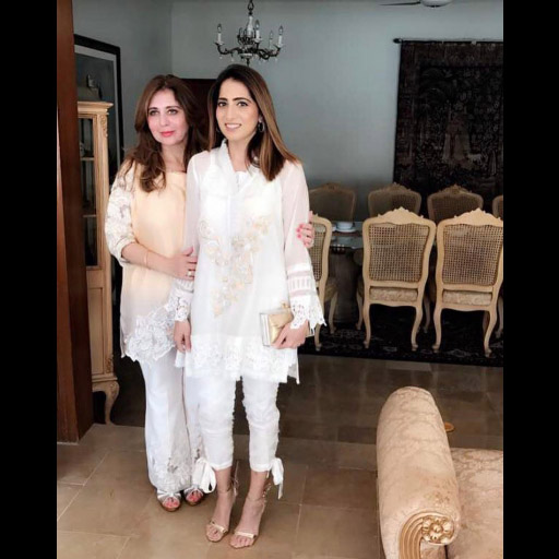 Somaya and her mother in Ayesha Somaya