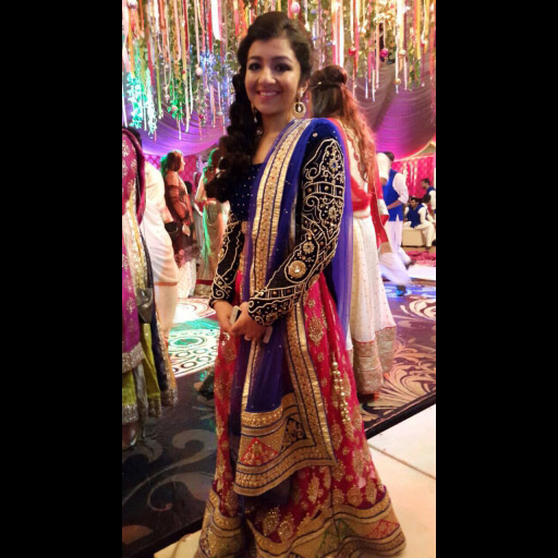 Amna Rizvi in a lehenga choli formal